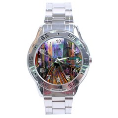 Downtown Chicago Stainless Steel Analogue Watch