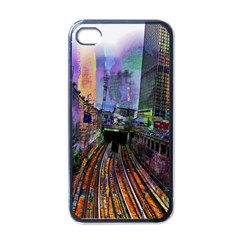 Downtown Chicago Apple iPhone 4 Case (Black)