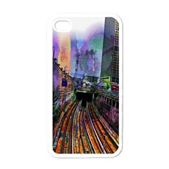 Downtown Chicago Apple Iphone 4 Case (white)