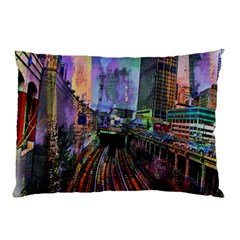 Downtown Chicago Pillow Case (Two Sides)