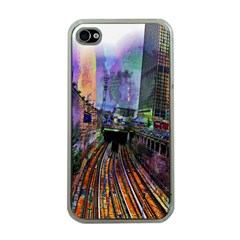 Downtown Chicago Apple Iphone 4 Case (clear)