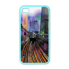 Downtown Chicago Apple Iphone 4 Case (color)