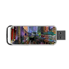 Downtown Chicago Portable USB Flash (One Side)