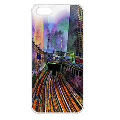 Downtown Chicago Apple Iphone 5 Seamless Case (white)