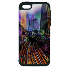 Downtown Chicago Apple Iphone 5 Hardshell Case (pc+silicone)