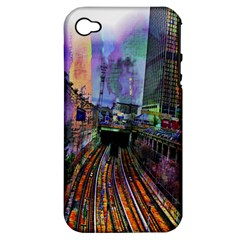 Downtown Chicago Apple Iphone 4/4s Hardshell Case (pc+silicone)