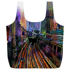 Downtown Chicago Full Print Recycle Bags (l)