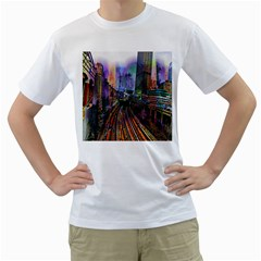 Downtown Chicago Men s T Shirt (white)