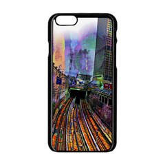 Downtown Chicago Apple Iphone 6/6s Black Enamel Case