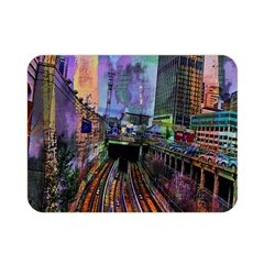 Downtown Chicago Double Sided Flano Blanket (mini)