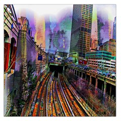 Downtown Chicago Large Satin Scarf (square)