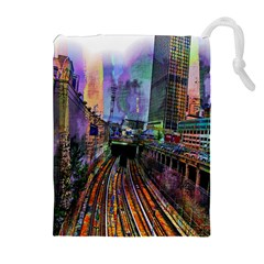 Downtown Chicago Drawstring Pouches (Extra Large)