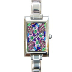 Wallpaper Created From Coloring Book Rectangle Italian Charm Watch