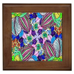 Wallpaper Created From Coloring Book Framed Tiles