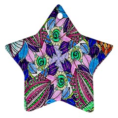 Wallpaper Created From Coloring Book Ornament (star)