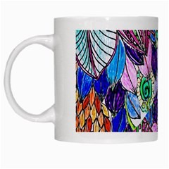Wallpaper Created From Coloring Book White Mugs