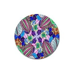 Wallpaper Created From Coloring Book Magnet 3  (Round)