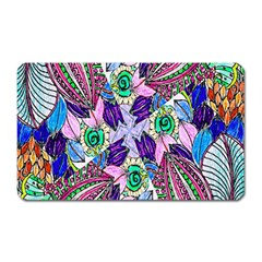 Wallpaper Created From Coloring Book Magnet (rectangular)