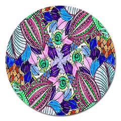 Wallpaper Created From Coloring Book Magnet 5  (round)