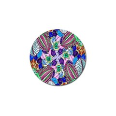 Wallpaper Created From Coloring Book Golf Ball Marker (10 Pack)