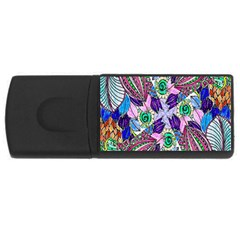 Wallpaper Created From Coloring Book USB Flash Drive Rectangular (2 GB)