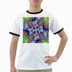 Wallpaper Created From Coloring Book Ringer T-Shirts