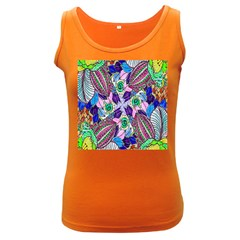 Wallpaper Created From Coloring Book Women s Dark Tank Top