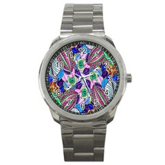 Wallpaper Created From Coloring Book Sport Metal Watch