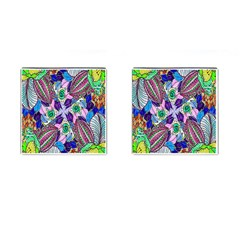 Wallpaper Created From Coloring Book Cufflinks (square)