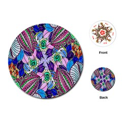 Wallpaper Created From Coloring Book Playing Cards (round)
