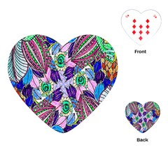 Wallpaper Created From Coloring Book Playing Cards (heart)