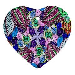 Wallpaper Created From Coloring Book Heart Ornament (Two Sides)