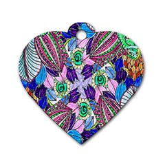 Wallpaper Created From Coloring Book Dog Tag Heart (two Sides)