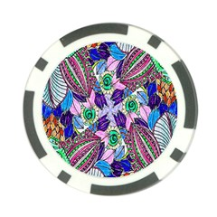 Wallpaper Created From Coloring Book Poker Chip Card Guard (10 pack)