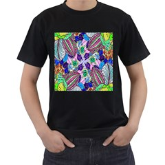 Wallpaper Created From Coloring Book Men s T Shirt (black)