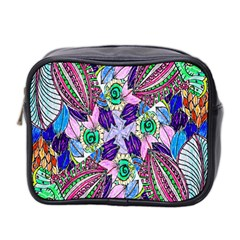 Wallpaper Created From Coloring Book Mini Toiletries Bag 2-Side