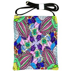 Wallpaper Created From Coloring Book Shoulder Sling Bags
