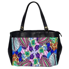 Wallpaper Created From Coloring Book Office Handbags (2 Sides)