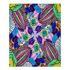 Wallpaper Created From Coloring Book Shower Curtain 60  X 72  (medium)