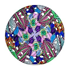 Wallpaper Created From Coloring Book Ornament (round Filigree)