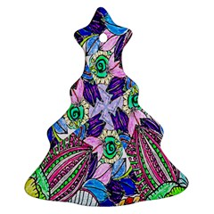Wallpaper Created From Coloring Book Christmas Tree Ornament (two Sides)
