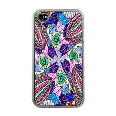 Wallpaper Created From Coloring Book Apple Iphone 4 Case (clear)