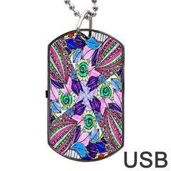 Wallpaper Created From Coloring Book Dog Tag Usb Flash (two Sides)