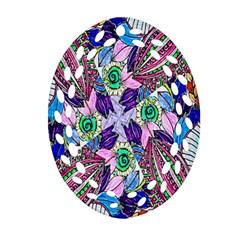 Wallpaper Created From Coloring Book Oval Filigree Ornament (two Sides)