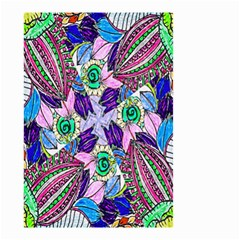 Wallpaper Created From Coloring Book Small Garden Flag (two Sides)
