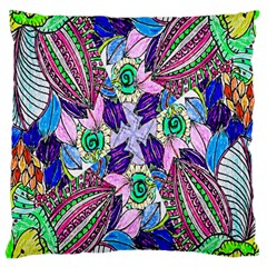 Wallpaper Created From Coloring Book Large Cushion Case (One Side)