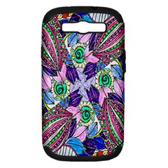 Wallpaper Created From Coloring Book Samsung Galaxy S III Hardshell Case (PC+Silicone)
