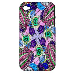 Wallpaper Created From Coloring Book Apple Iphone 4/4s Hardshell Case (pc+silicone)