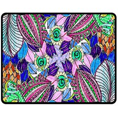 Wallpaper Created From Coloring Book Double Sided Fleece Blanket (medium)