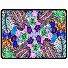 Wallpaper Created From Coloring Book Double Sided Fleece Blanket (large)